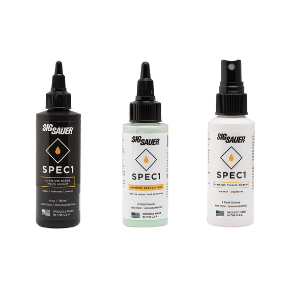 SPEC1 Firearm Lubricant, Bore Solvent and Cleaner Combo Pack  - view 1