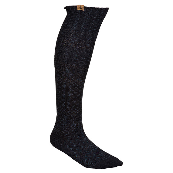 Women's Fairisle Textured Knee High Socks