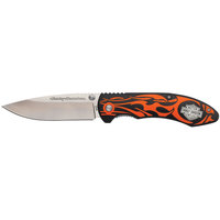 HARLEY-DAVIDSON TecX Orange Flame Folding Knife