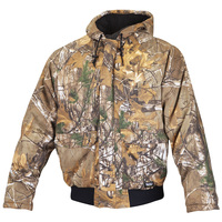 Walls Men's Insulated Camo Hooded Jacket