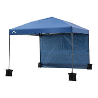Yoli Monterey 10'x10' Straight-Leg Canopy with Wall and Weight Bags