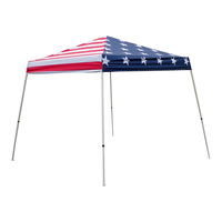 World Famous Sports Stars & Stripes Deluxe Folding Slant-Leg Canopy