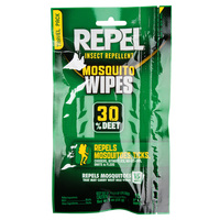 Repel Insect Repellent 30% DEET Mosquito Wipes