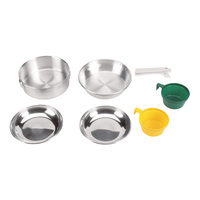 Stansport Polished Aluminum Mess Kit