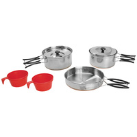 Texsport 2-Person Stainless-Steel Cook Set