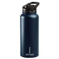 Fifty Fifty 34-oz. Stainless Steel Vacuum Insulated Bottle with Flip Straw Lid