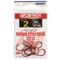 Owner Hooks Red Mosquito Hook