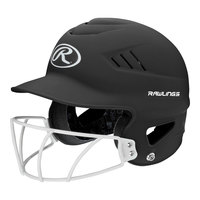 Rawlings Coolflo Softball Batting Helmet with Faceguard
