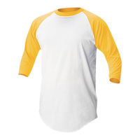 Soffe Men's Baseball 3/4-Sleeve Jersey