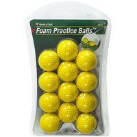 JEF World of Golf Foam Practice Golf Balls - 12-Pack