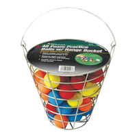 JEF World of Golf Metal Range Bucket with Foam Golf Balls