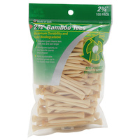 JEF World of Golf Bamboo Golf Tees - 100 Pack