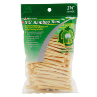 JEF World of Golf Bamboo Golf Tees - 75 Pack