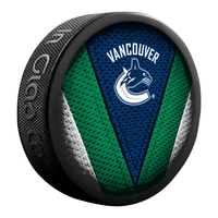 SHER-WOOD NHL Vancouver Canucks Hockey Puck