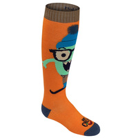 Hot Chilly's Youth's In Your Face Mid Volume Winter Sport Socks