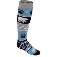 Hot Chilly's Youth's Bear Crossing Mid Volume Winter Sport Socks