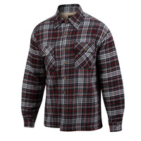 Rugged Exposure Men's Sherpa-Lined Flannel Shirt Jac