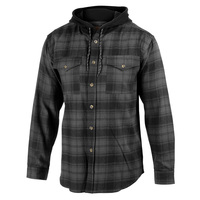 Rugged Exposure Men's Hooded Flannel Shirt