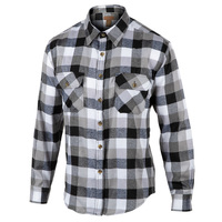 Rugged Exposure Men's Plaid Flannel 2-Pocket Long-Sleeve Shirt