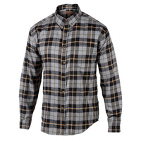 Rugged Exposure Men's Plaid Flannel One-Pocket Long-Sleeve Shirt