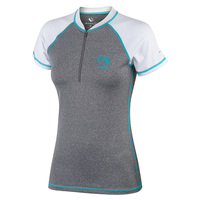 Burnside Women's Short-Sleeve Zip Swim Tee