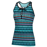 Free Country Women's Lace-Up Racerback Tankini Top