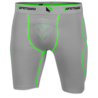 SAFETGARD Adult's Neon Sliding Shorts with Neon Cage Cup