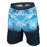 Burnside Men's Blue Hawaii E-Board Shorts
