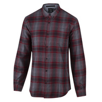 Burnside Men's Long-Sleeve Plaid Shirt