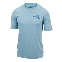 Reel Life Men's Water Stripe Performance T-Shirt