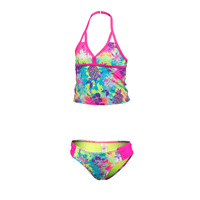 Laguna Girls' Tropical Tie Dye Two-Piece Tankini