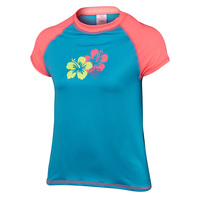 Laguna Girls' Flower Short-Sleeve Swim Tee