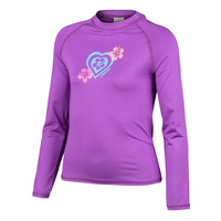 Laguna Girls' Heart Long-Sleeve Swim Tee