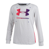 Under Armour Girls' Finale Terry Crew Long-Sleeve Shirt