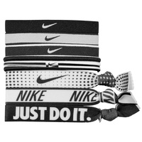 Nike Black and White Mixed Ponytail Headbands - 9-Pack