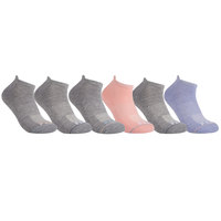 FILA Women's Ankle Guard Cushioned No-Show Socks - 6-Pack