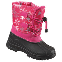 World Famous Sports Snow Day Print Girls' Cold-Weather Boots