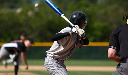 Baseball - Young teen at bat