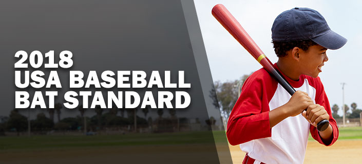 2018 USA Baseball Bat Standard - an image of a young african american kid with a baseball bat ready to swing and smiling